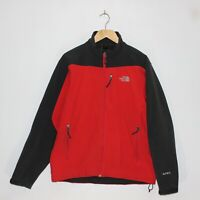 The North Face Apex Shell Mens Jacket Size Medium Red Grey