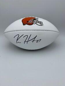 Kareem Hunt Signed Cleveland Browns Full Size White Panel Football COA Hologram