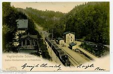 Rentzschmuhle Train Station Vogtland Switzerland Postcard Germany to Canada
