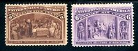 USAstamps Unused VF US 1893 Columbian Expo Scott 234, 235 OG MHR
