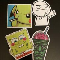 Pikachu Pokemon Spongebob Green Brain Shake Sticker Pack