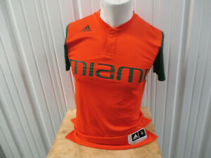 VINTAGE ADIDAS UM MIAMI HURRICANES SMALL BASEBALL TEAM ISSUED PRE-OWNED