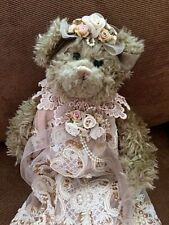 Gorgeous Handmade Victorian Lace Bear Pre-owned