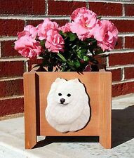 Pomeranian Planter Flower Pot White