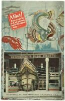 Bernstein's Fish Grotto Restaurant Shack San Francisco California CA Postcard