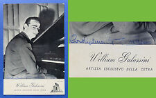 Autografo del direttore d'orchestra e compositore William Galassini - anni '50