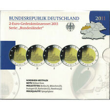 EUR, Germany, Proof Euro Set of 5 x 2 Euro, 2011 ADFGJ #93488