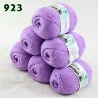 Sale Lot of 6 Skeins x50g LACE Soft Acrylic Wool Cashmere hand knitting Yarn 923