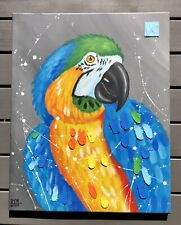 Macaw Abstract Painting