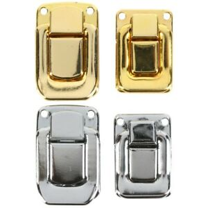 TOGGLE CASE CATCH Large/Small CHROME/BRASS Trunk Box Chest Suitcase Latch Lock