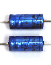 20pc Electrolytic Capacitor 47uF 63V 105℃ Axial Philips Long Life 8x19mm