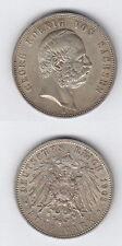 Kaiserreich 5 Mark  Georg König von Sachsen 1903 E Silber