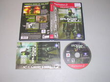 SPLINTER CELL  (Playstation 2 PS2) Complete GH