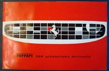FERRARI 250 GT BERLINETTA CAR SALES BROCHURE 1st 1960