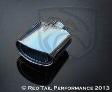 """Red Tail Exhaust Muffler Tip Oval 2.25"""" Inlet 5.75"""" wide & 3"""" tall OD"""