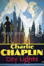 City Lights Vintage Charlie Chaplin Movie Poster (2) 18x24