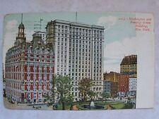 NEW YORK, WASHINGTON & BOWLING GREEN BUILDING, N.Y. C.1909 UNDIVIDED POSTCARD PC