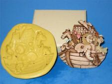 Noah Ark Push Mold Food Safe Silicone Cake Chocolate Resin Baby Shower A407
