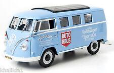 "GREENLIGHT 1962 VOLKSWAGEN MICROBUS ""AUTO HAUS"" BLUE DIECAST CAR 1:18 GL12852"