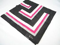 Desco handkerchief neck scarf black white red L shape design lines New