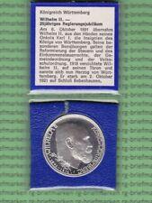Deutsches Reich-Medaille, Drei Mark, Wilhelm II vom Württemberg,Jahr 1991(M5094)