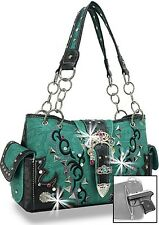 NEW 2017 Turquoise Concealed Carry Western Buckle Handbag Purse