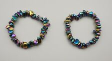 Splitterarmband HÄMATIT metallisch behandelt Rainbow Armband ca. 20 cm