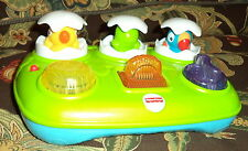 Fisher Price Baby Toy Musical Pop-Up Eggs w/ Batteries Included
