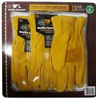 Wells Lamont Premium Cowhide Leather Work Gloves 3 Pair Pack - Size Large
