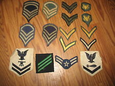MILITARY LOT INSIGNIA CRESTS PATCHES RANK  ARMY NAVY MARINE