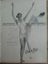 1960 womens Corde de Parie au naturel one piece girdle bra garters vintage ad