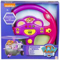 GIRLS PAW PATROL SKYE ELECTRONIC CAR STEERING WHEEL PRETEND DRIVING TOY SOUNDS