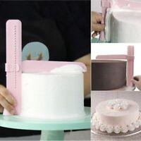 1X DIY Cake Cream Smoother Adjustable Tools Cutter Decorate Fondant Cake Scraper