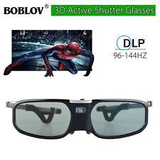 DLP-Link 144Hz ricaricabile 3D Active Shutter Glasses nero per LG Dell Samsung