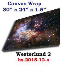 Westerlund 2 - hs-2015-12-a Hubble JPL NASA space telescope Canvas art print
