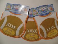 New Lot of Three Baby Boy's Little All Star FOOTBALL Terrycloth Bibs