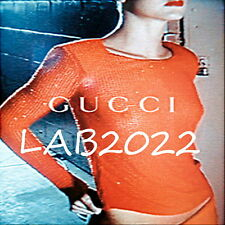GUCCI Tom Ford  Beaded Orange Crush Complete Runway Exit 6  '97