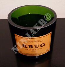 Vaso da Bottiglia vuota Champagne Krug porta oggetti penne arredo riciclo creati
