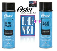 2-Oster WASH Cools CLEANS,LUBRICATES PROTECTS MakesALL CLIPPER BLADE Last LONGER