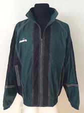 Diadora Jacket Windbreaker Vintage 90s NWOT Green Black