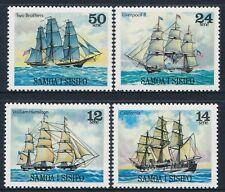 1979 SAMOA SAILING SHIPS PART II SET OF 4 FINE MINT MNH