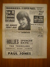 NME #1050 1967 FEB 25 MONKEES DAVY TOM JONES HOLLIES