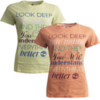 Timberland Round Neck Message Cotton Womens T-Shirts N0131 704/805 RW56 RW57