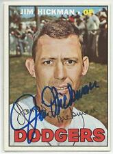 JIM HICKMAN Autographed Signed 1967 Topps card Los Angeles Dodgers COA