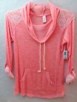 NO BOUNDARIES - Women Size M(5-9), L(11-13) Ladies 3 Styles Orange Blouse-Top