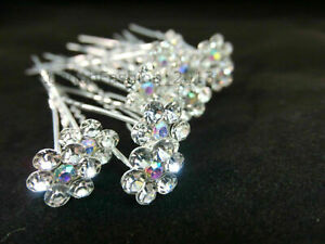 20 x  Hair Pins Bridal Wedding Stunning Diamante Available In  Silver