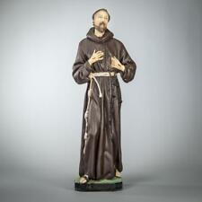 St Francis of Assisi Statue | Saint Francesco Figure | Plaster Figurine | 18""