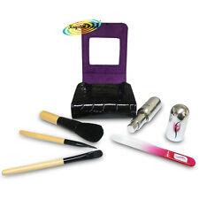 FLO Organiser Make Up Case Gift Set, Perfume Atomiser, Glass Nail File, Brushes