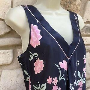 Jones New York Satin Long Gown 1J202G Water Color Splash Medium