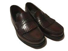 Rockport Mens Dress Fringe Loafer Leather Slip-On Shoe Burgundy 501843 Size 8.5W